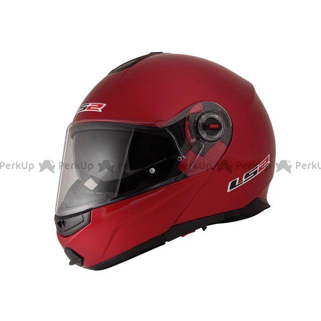 送料無料 LS2 HELMETS エルエスツー システムヘルメット(フリップアップ) 【売り尽くし】 LS2 G-MAC-RIDE(ジーマックライド) レッドメタリック XL/61-62cm