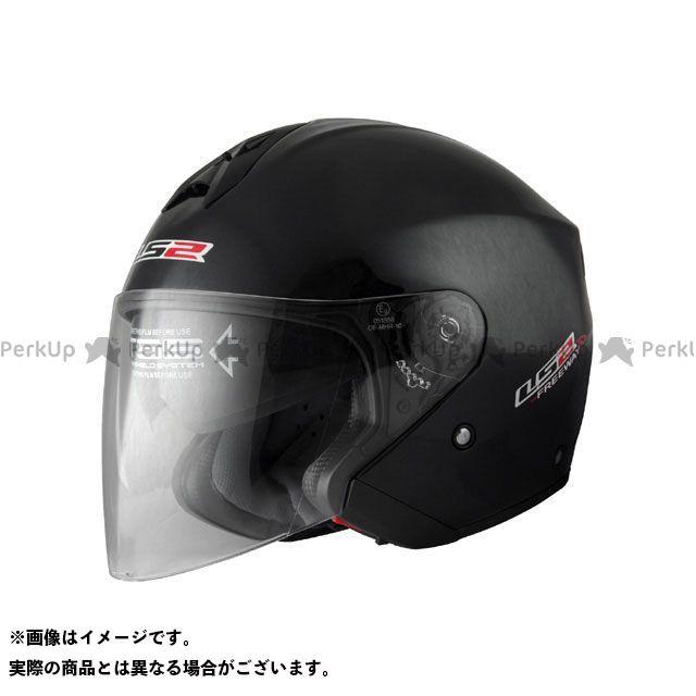 送料無料 LS2 HELMETS エルエスツー ジェットヘルメット 【売り尽くし】 LS2 FREEWAY(フリーウェイ) ソリッドモデル ブラックメタリック L/59-60cm