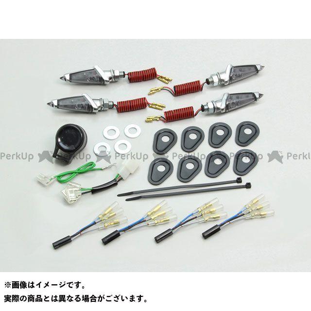 HURRICANE MT-07 トレーサー900・MT-09トレーサー XSR900 ウインカー関連パーツ LEDダガーウインカーキット メッキボディ/スモークレンズ