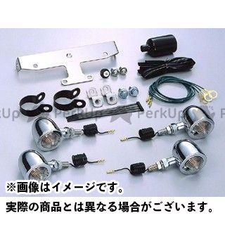 送料無料 HURRICANE ドラッグスタークラシック1100(DSC11) ドラッグスタークラシック400(DSC4) ウインカー関連パーツ ブレットウインカーキット フレームマウント クリアレンズ