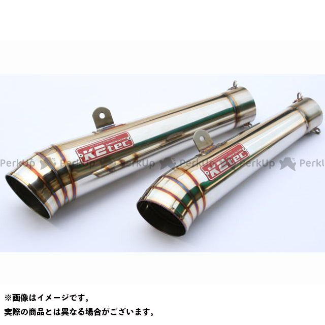 K2-tec 汎用 マフラー本体 GPスタイル メガホンサイレンサー テーパー長:250mm 外径:φ80 差込径:φ60.5 ケイツーテック