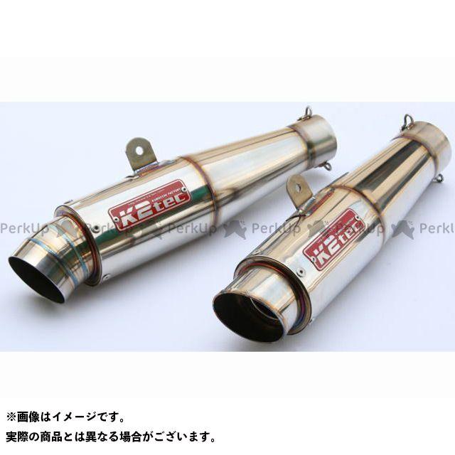 K2-tec 汎用 マフラー本体 GPスタイル テーパーサイレンサー 3ピース テーパー長:140mm 差込径:φ60.5 ケイツーテック