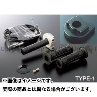 送料無料 ACTIVE ニンジャZX-10R グリップ関連パーツ 車種専用スロットルキット TYPE-1 ブラック φ36