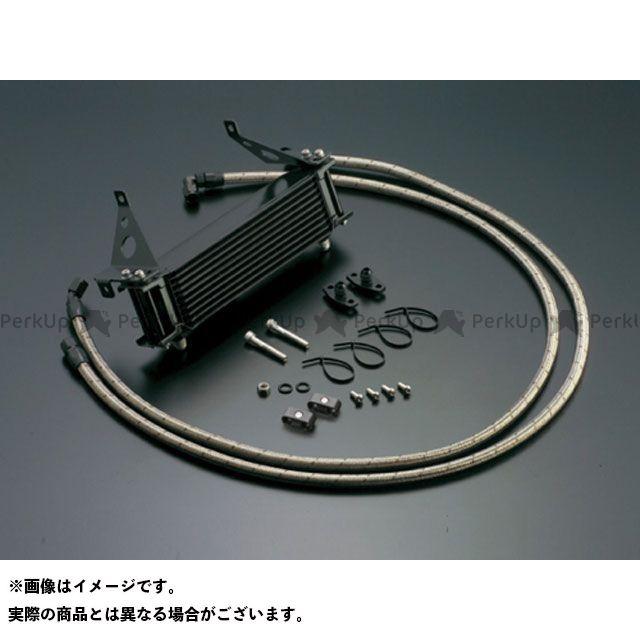 ACTIVE CBR400F オイルクーラー オイルクーラーキット(サイド廻し)ストレート #6 9-13R(サーモ対応キット) カラー:ブラック アクティブ