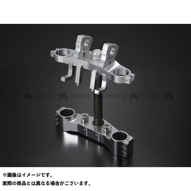 ケイファクトリー ZRX1200ダエグ フロントフォーク関連パーツ トリプルツリー シルバー Kファクトリー