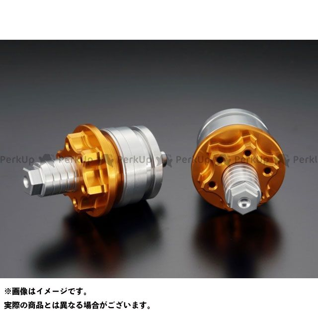ケイファクトリー ニンジャ250SL Z250 フロントフォーク関連パーツ フロントフォークトップキャップ カラー:ストロングゴールド Kファクトリー