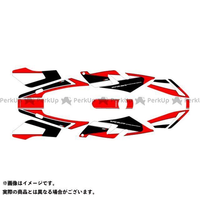 【無料雑誌付き】エムディーエフ CB400スーパーボルドール ドレスアップ・カバー CB400 SUPER BOLDOR(15-13)専用グラフィックキット アタッカーモデル レッドタイプ コンプリートセット MDF