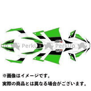 エムディーエフ ニンジャ250 ドレスアップ・カバー Ninja250(13-17) グラフィックキット アタッカーモデル グリーンタイプ タイプ:コンプリートセット MDF