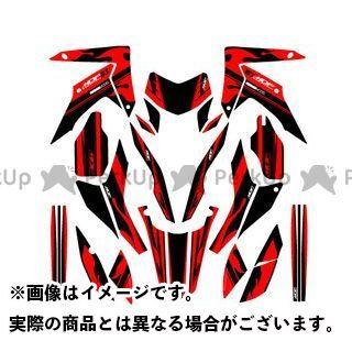 エムディーエフ CRF250L ドレスアップ・カバー CRF250L(12-16) グラフィックキット ファイアーモデル レッドタイプ タイプ:コンプリートセット MDF