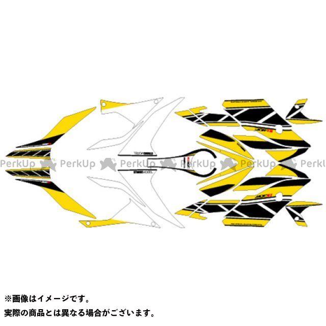 【無料雑誌付き】MDF YZF-R25 YZF-R3 ドレスアップ・カバー YZF-R3/R25(15-18) グラフィックキット ストロボモデル パンプキンイエロータイプ タイプ:コンプリートセット エムディーエフ
