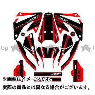 エムディーエフ XR250モタード ドレスアップ・カバー XR250 MOTARD(06-) グラフィックキット アタッカーモデル レッドタイプ タイプ:コンプリートセット MDF