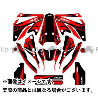 エムディーエフ XR250モタード ドレスアップ・カバー XR250 MOTARD(06-) グラフィックキット ファイアーモデル レッドタイプ タイプ:コンプリートセット MDF