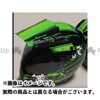 エムディーエフ ヘルメットアクセサリー ヘルメットグラフィック ブラッディーモデル カラー:ライムグリーン MDF