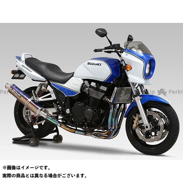 YOSHIMURA GSX1400 マフラー本体 機械曲チタンサイクロン TTB/FIRESPEC(チタンブルーカバー) ヨシムラ