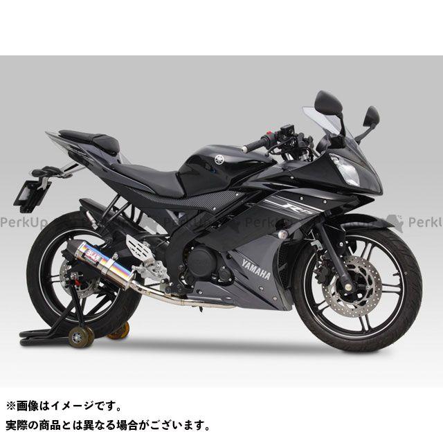 YOSHIMURA YZF-R15 マフラー本体 Tri-Coneサイクロン カーボンエンド EXPORT SPEC サイレンサー:STB(チタンブルーカバー) ヨシムラ