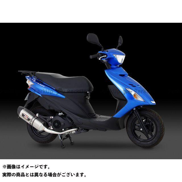 YOSHIMURA アドレスV125G アドレスV125S マフラー本体 Slip-On R-77S サイクロン カーボンエンド サイレンサー:STBC(チタンブルーカバー) ヨシムラ