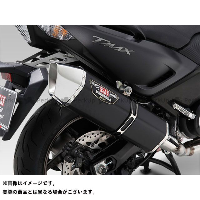 YOSHIMURA TMAX530 マフラー本体 機械曲HEPTA FORCE サイクロン EXPORT SPEC 政府認証 サイレンサー:SSS(ステンレスカバー/ステンレスエンドタイプ) ヨシムラ