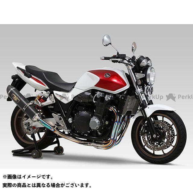 YOSHIMURA CB1300スーパーボルドール CB1300スーパーフォア(CB1300SF) マフラー本体 機械曲R-77S チタンサイクロン LEPTOS 政府認証 TTBC(チタンブルーカバー/カーボンエンドタイプ) ヨシムラ
