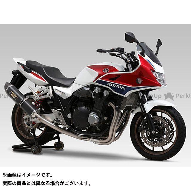 YOSHIMURA CB1300スーパーボルドール マフラー本体 機械曲R-77S チタンサイクロン LEPTOS 政府認証 サイレンサー:TTBC(チタンブルーカバー/カーボンエンドタイプ) ヨシムラ