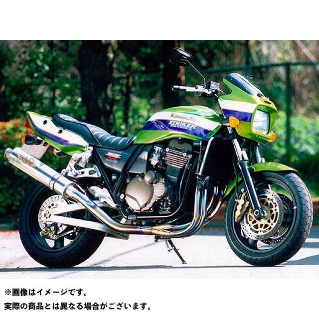 STRIKER ZRX1100 ZRX1200R マフラー本体 SUPER STRIKER TITAN チタンフルエキゾースト サイレンサー:カーボン ストライカー