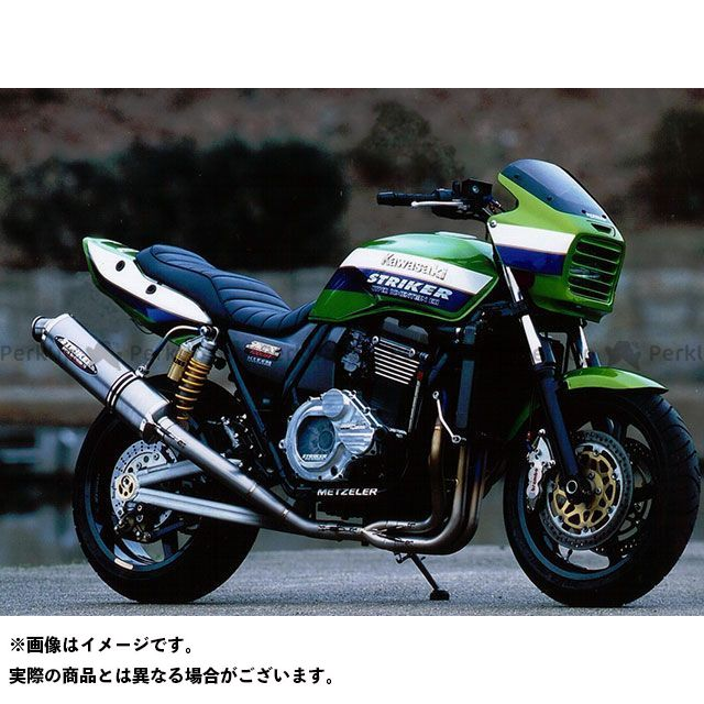 STRIKER ZRX1100 ZRX1200R マフラー本体 RACING CONCEPT チタンフルエキゾースト サイレンサー:チタン ストライカー