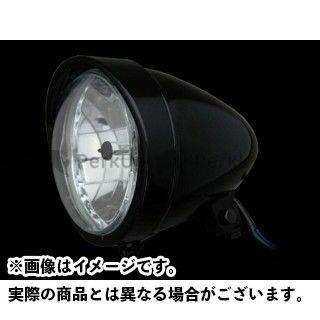 ネオファク ハーレー汎用 ヘッドライト・バルブ 5-3/4in バイザーバレットヘッドライト H4 ブラック