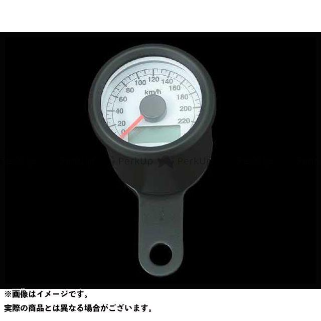 【エントリーで最大P23倍】ネオファク ハーレー汎用 スピードメーター 48mm アジャスタブルスピードメーター ボディ:ブラック 文字盤:白 バックLED:白光 ネオファクトリー