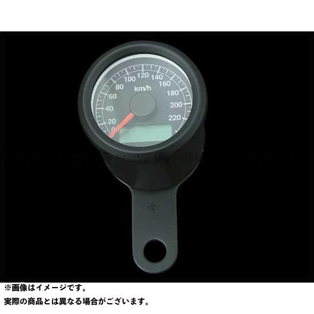 ネオファク ハーレー汎用 スピードメーター 48mmケーブルアジャスタブルスピードメーター ブラック 黒 白光