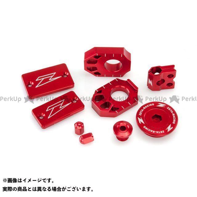 【エントリーで更にP5倍】ZETA DR-Z400SM ドレスアップ・カバー ビレットキット カラー:レッド ジータ