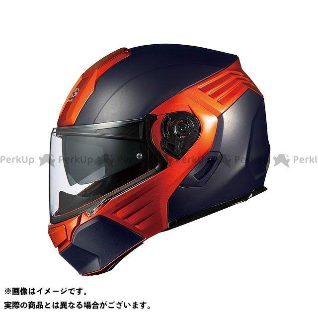 送料無料 OGK KABUTO オージーケーカブト システムヘルメット(フリップアップ) KAZAMI(カザミ) フラットブラック/オレンジ M/57-58cm