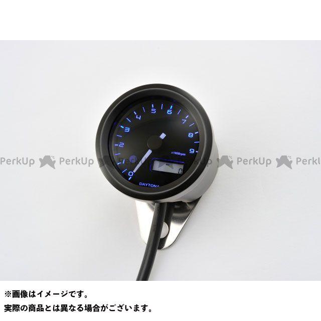 DAYTONA タコメーター VELONA 電気式タコメーター φ48(パルスジェネレーター無し) ブラックボディ 3色LED タイプ:9000rpm デイトナ