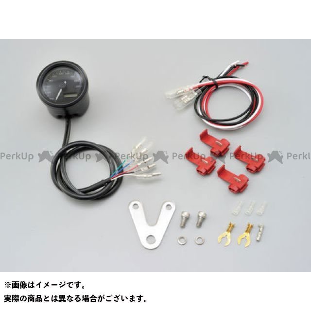 【エントリーで最大P23倍】DAYTONA スピードメーター VELONA 電気式スピードメーター φ48(非接触センサー無し) ブラックボディ 3色LED タイプ:200km/h デイトナ