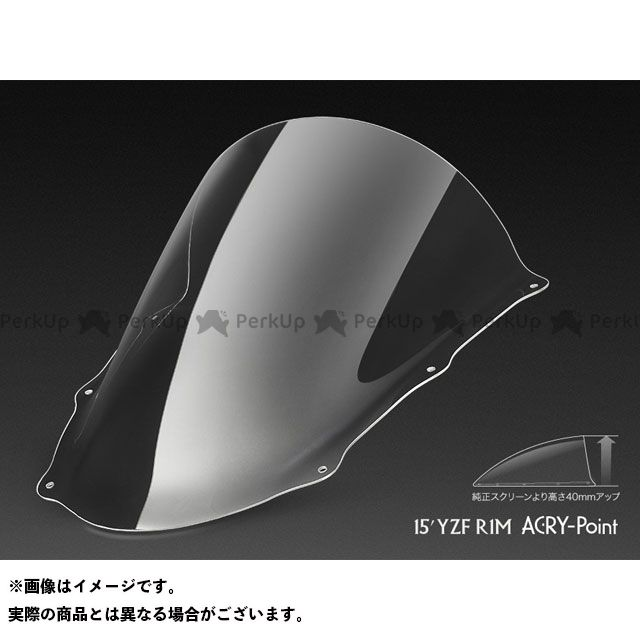 ACRY-Point YZF-R1M スクリーン関連パーツ YZF-R1M 2015~用スクリーン レーシング(クリア) アクリポイント