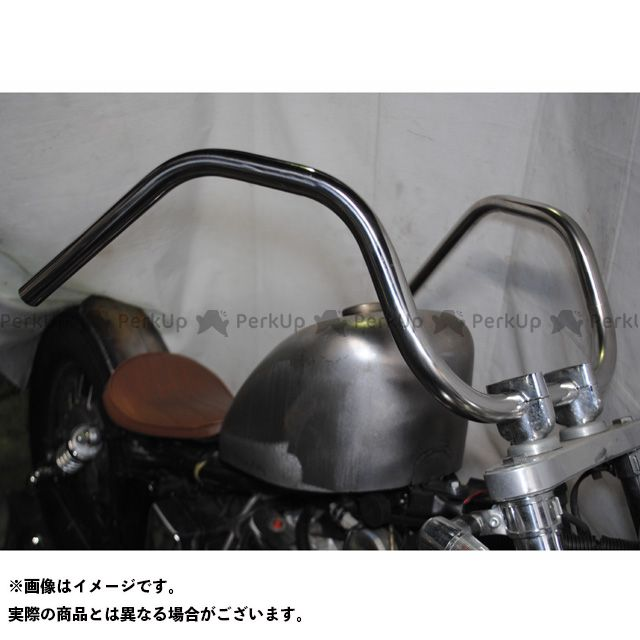 ブヒンヤケーアンドダブリュー 汎用 ハンドル関連パーツ シックスベンドバー タイプA サイズ:1インチ 部品屋K&W