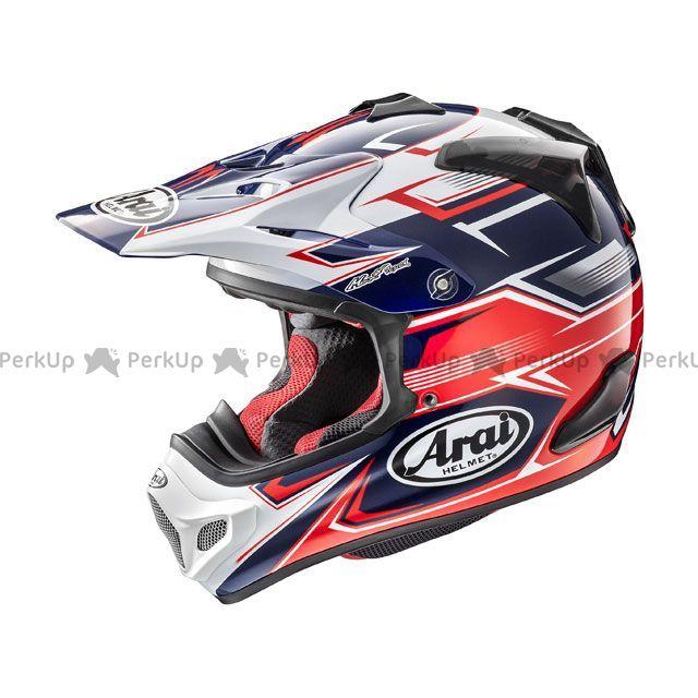 送料無料 アライ ヘルメット Arai オフロードヘルメット V-CROSS 4 SLY(V-クロス4・スライ) レッド 54cm