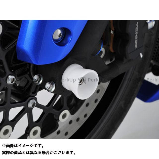 AGRAS GSX-R1000 その他サスペンションパーツ フロントアクスルプロテクター ファンネルタイプ タイプ:ジュラコン カラー:ブラック アグラス