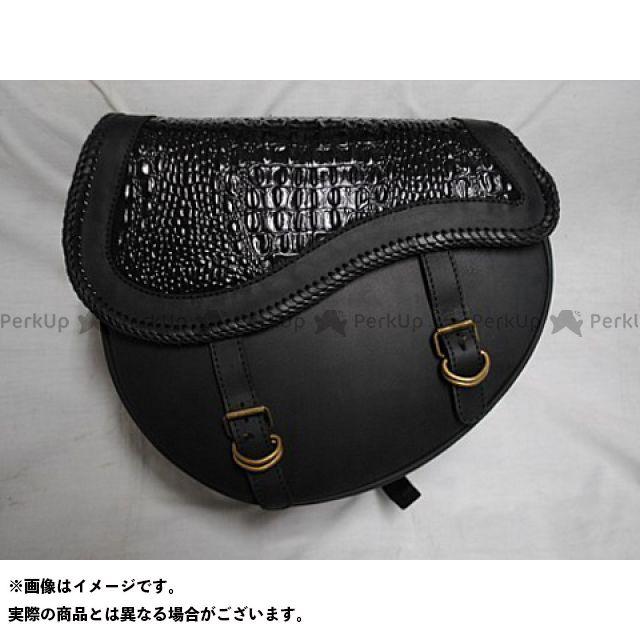 ブヒンヤケーアンドダブリュー ツーリング用バッグ サドルバッグ ラウンドタイプ カラー:黒 部品屋K&W