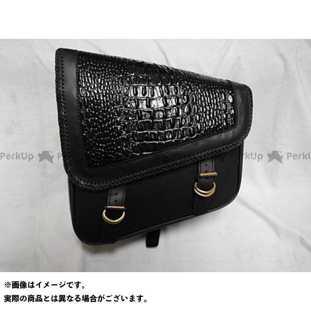 ブヒンヤケーアンドダブリュー ツーリング用バッグ サドルバッグ スクエアタイプ カラー:黒 部品屋K&W