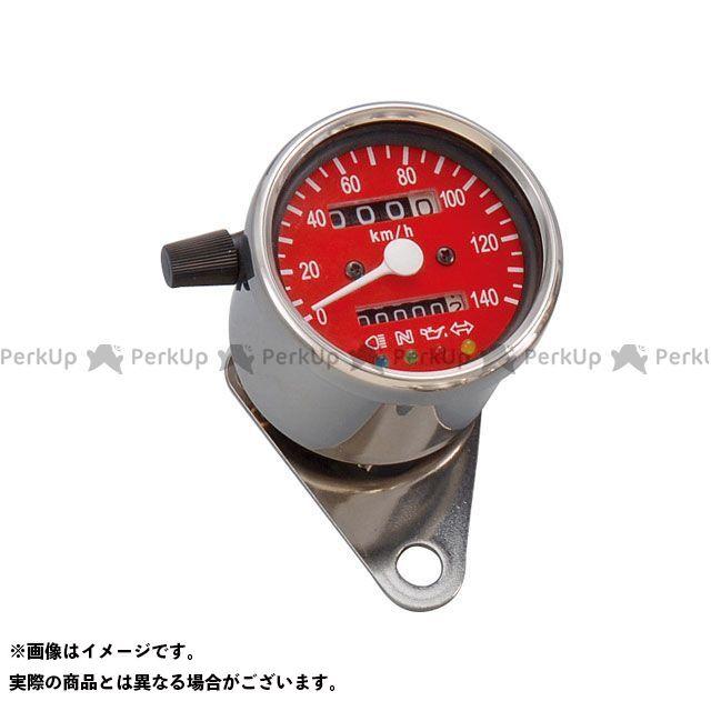 【エントリーで最大P23倍】POSH Faith 汎用 スピードメーター LEDバックライト4インジケーターミニメーター(機械式) タイプ:レッドパネル ポッシュフェイス