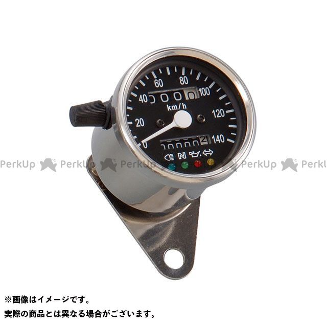 【エントリーで最大P23倍】POSH Faith 汎用 スピードメーター LEDバックライト4インジケーターミニメーター(機械式) タイプ:ブラックパネル ポッシュフェイス