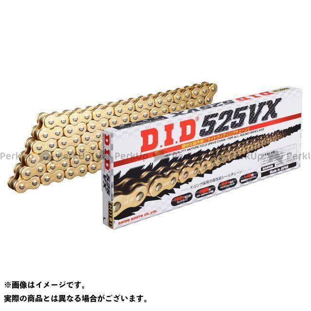 【特価品】ディーアイディー チェーン関連パーツ ストリートチェーン 525VX カシメジョイントタイプ カラー:ゴールド リンク数:120L DID