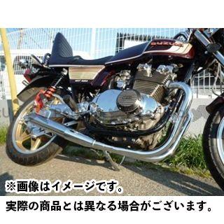MADSTAR GSX400E マフラー本体 S-521 GSX400Eザリ/GSX400E刀ゴキ用 SHIMURAKAN メッキver.