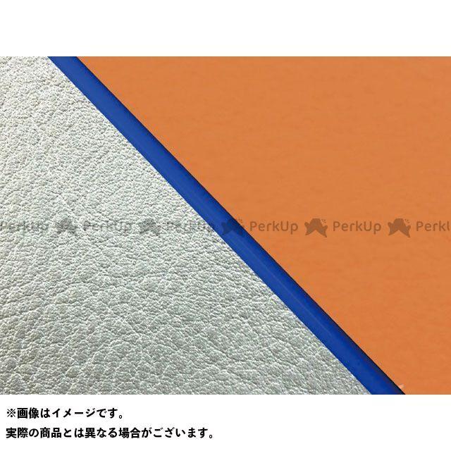 Grondement W650 シート関連パーツ W650(99年 EJ650A1/C1) 国産シートカバー 張替 オレンジ ライン:シルバーライン 仕様:青パイピング グロンドマン