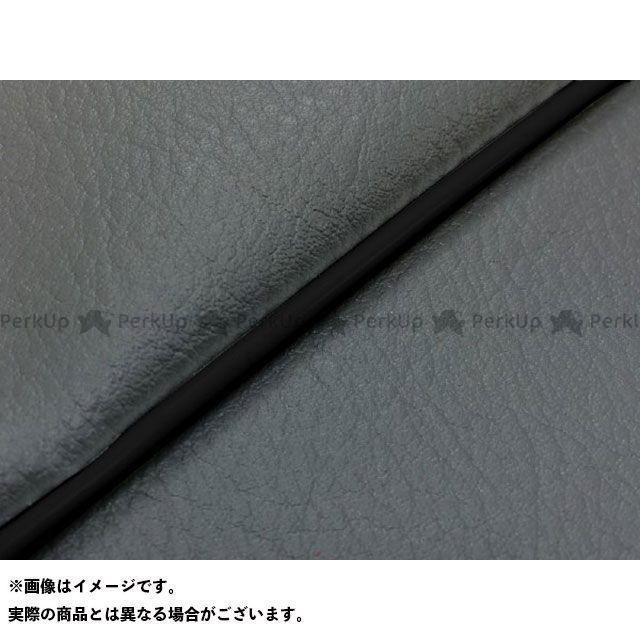Grondement W650 シート関連パーツ W650(99年 EJ650A1/C1) 国産シートカバー 張替 ダークグレー ライン:- 仕様:黒パイピング グロンドマン