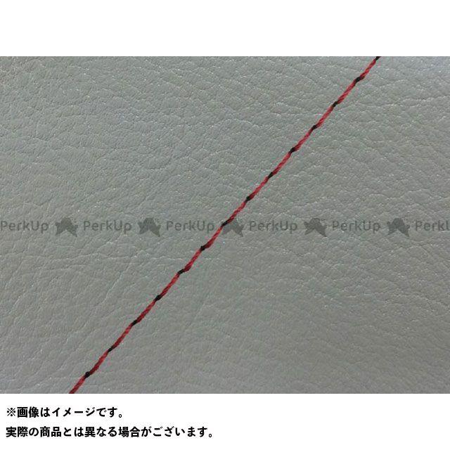 送料無料 Grondement W650 シート関連パーツ W650(99年 EJ650A1/C1) 国産シートカバー 張替 ダークグレー - 赤ステッチ