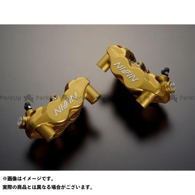 ADVANTAGE 汎用 キャリパー ADVANTAGE NISSIN 4POT ラジアルフィットキャリパー(ゴールド) 2PAD 左用