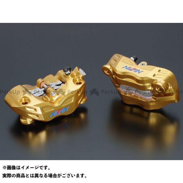 ADVANTAGE 汎用 キャリパー ADVANTAGE NISSIN 4POT RADIALFITキャリパー削り出し108mm(ゴールド)左右セット