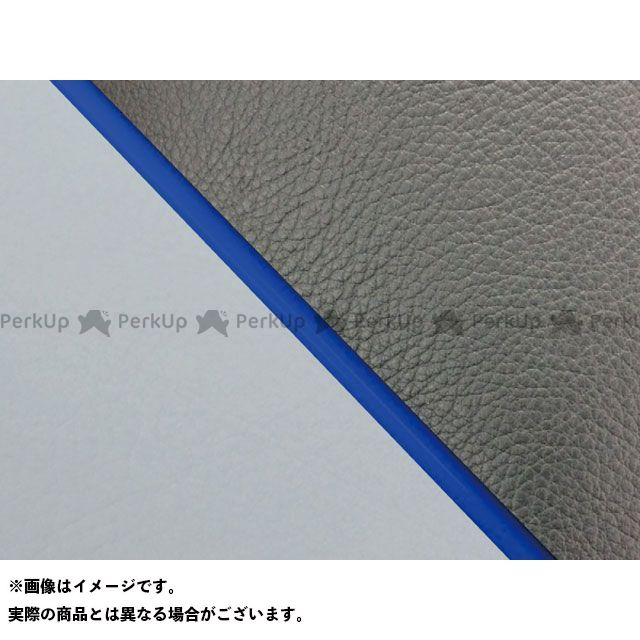 Grondement W650 シート関連パーツ W650(99年 EJ650A1/C1) 国産シートカバー 張替 黒 ライン:グレーライン 仕様:青パイピング グロンドマン