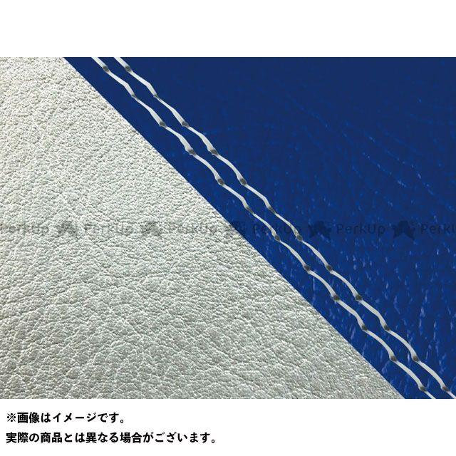 Grondement W650 シート関連パーツ W650(99年 EJ650A1/C1) 国産シートカバー 張替 青 ライン:シルバーライン 仕様:透明ダブルステッチ グロンドマン