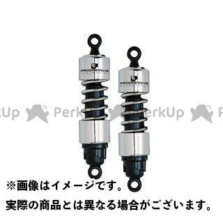 PROGRESSIVE バルカン1500 リアサスペンション関連パーツ リアサスペンション4000シリーズ ローダウンショック(11.5インチ)クローム プログレッシブ